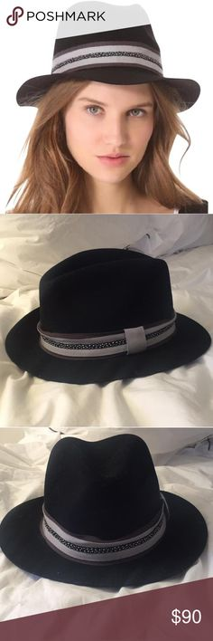 Rag & Bone Wool Black Ribbon Fedora M Rag & Bone Wool Black Ribbon Fedora M rag & bone Accessories Hats