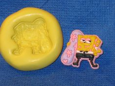 Surfer SpongeBob Square Pants Silicone Push Mold Food Safe #565 Fondant Cookie  Resin Resin Fondant Clay Soap by LobsterTailMolds on Etsy