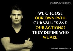 Stefan fatefully meets Elena Gilbert and is intensely, immediately and indescribably drawn to her. Check out best Stefan Salvatore Quotes at EliteColumn. Inspirational Football Quotes, Motivational Quotes For Life, Life Quotes, Bonnie Bennett, Falling In Love Quotes, Love Quotes For Him, Stefan Salvatore Quotes, Losing Hope Quotes, Country Love Quotes