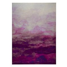 This beautiful and rosy abstract displays a mix of watery coloration with deep undertones of fuchsia and aubergine. Tranquility Bound 2, $449.95