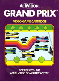 Activision GRand Prix for the Atari 2600 Vintage Video Games, Classic Video Games, Retro Video Games, Retro Games, Space Invaders, Donkey Kong, Arcade Games, Grand Prix, Videogames
