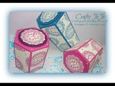 Crafty JoJox60's Blog: How to create a hexagonal box at any size , with free video tuotrial!