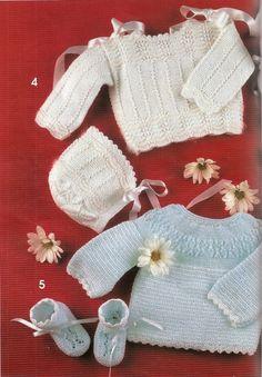 4 - Muestras y Motivos №18 ---- bebés Crochet Bikini, Knit Crochet, Crochet Hats, Knitting For Kids, Baby Knitting, Knitting Ideas, Knitting Magazine, Beautiful Crochet, Knitted Hats