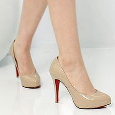 Nude Pump with red bottoms.. $22 on ebay!