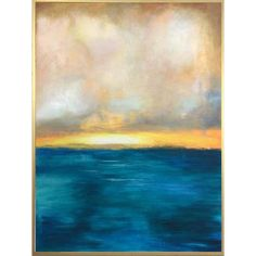 Large Abstract Paintings On Canvas Ocean Painting Blue Sunset Acrylic On Canvas | SUMMER SUNSET Sunset Painting Easy, Easy Canvas Painting, Blue Painting, Canvas Art, Canvas Paintings, Abstract Paintings, Blue Sunset, Summer Sunset, Night Shadow