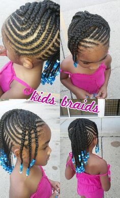 Braid Hairstyles For Kids Braids And Beeds  Misha's Hair  Pinterest  Beads Kid Hairstyles