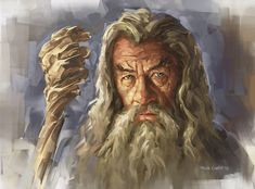 — Gandalf the Grey Gandalf, Art Portfolio, Middle Earth, Lord Of The Rings, Tolkien, Lotr, Book Art, Digital Art, Drawings