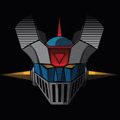 Check out this awesome - Mazinger Z Stripes - design on Thundercats Logo, Robot Cartoon, Japanese Superheroes, Retro Robot, Mecha Anime, Super Robot, Cartoon Shows, Tshirt Colors, Street Art