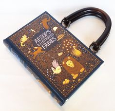 Aesop Fables Recycled Book Purse by NovelCreations on Etsy, $58.00