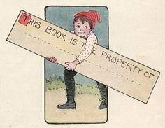 Child's bookplate, copyright 1911.