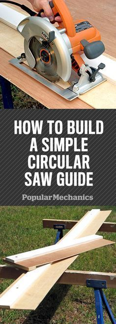 Cool Woodworking Tips - Build a Simple Circular Saw Guide for Straighter Cuts - . Cool Woodworking Tips – Build a Simple Circular Saw Guide for Straighter Cuts – Easy Woodworkin Easy Woodworking Ideas, Learn Woodworking, Woodworking Furniture, Woodworking Crafts, Woodworking Plans, Popular Woodworking, Woodworking Techniques, Woodworking Jigsaw, Furniture Plans