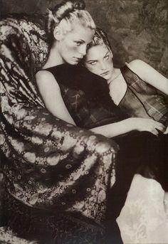 Tanga Moreau photographed by Paolo Roversi - Alberta Ferretti Ad Campaign: Fall/Winter 1997