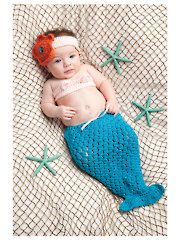 Little Crochet Mermaid Set crochet pattern download from www.AnniesCatalog.com.