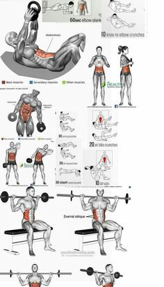 workout routine ab exercises Combine these exercises with the best clenbuterol alternatives for getting ripped abs, get shredded abs, how to burn fat, how to get shredded abs Gym Workout Chart, Abs Workout Routines, Gym Workout Tips, Biceps Workout, Ab Workout At Home, Fitness Workouts, At Home Workouts, Forearm Workout, Ab Routine