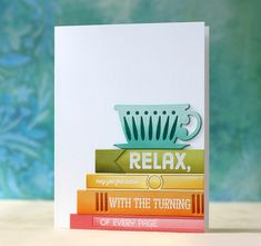 Relax Card by Laura Bassen for Papertrey Ink (July 2015)