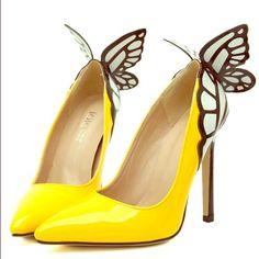Dreamy Butterfly Wings Pointed Toe Heels ✨Beautiful yellow butterfly high heels✨ Jo-Jo Shoes Heels