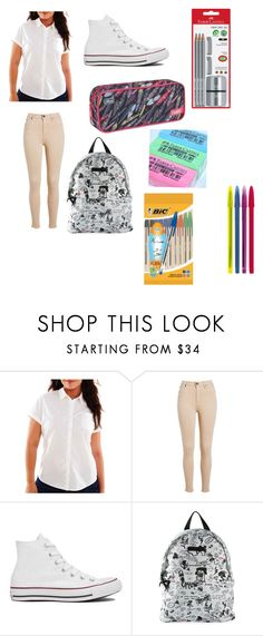 """Sem título #308"" by princessvreni ❤ liked on Polyvore featuring Arizona, Converse, Dsquared2, Faber-Castell and plus size clothing"