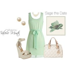 Sage the Date, created by styled-by-valerie-musto on Polyvore
