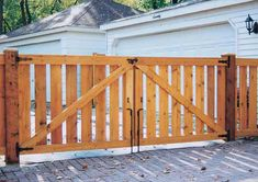Spaced Traditional Double Drive Gate Back Side Cedar Gate, Fence With Lattice Top, Home Fencing, Western Red Cedar, Gate Design, Wood Fences, Traditional, Gates, House