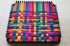 potholder looms, you could get bags of these loops pretty cheap and make potholders or sew them together for placemats