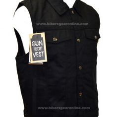 Black Denim Motorcycle Vest Jeans