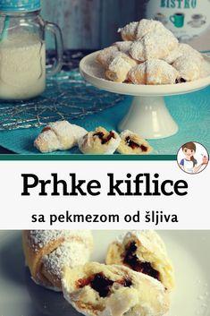 Kiflice Recipe, Torte Recepti, Serbian Recipes, Strudel, Dessert Recipes, Desserts, Sweet Recipes, Cooking Recipes, Sweets