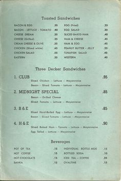 #typography #vintage #menu