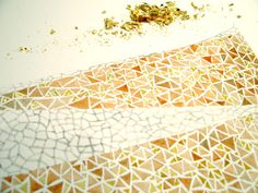 Water colour and gold leaf Leaf Texture, Texture Design, Leaf Projects, Gold Sheets, Leaf Crafts, Gold Diy, Gold Gilding, Gold Leaf, Leaves