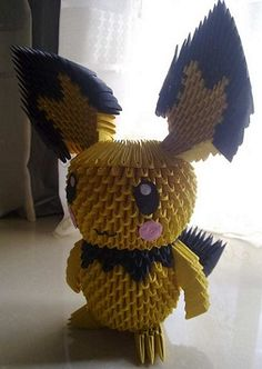 3D Origami - Pikachu