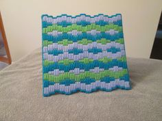 Table Mat/Hot Plate in Plastic Canvas by CraftsforSalebyJune on Etsy