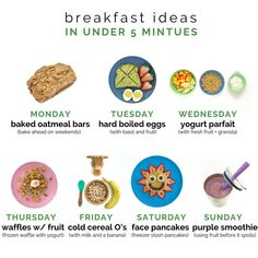 How long do you have to prep breakfast most mornings? Or maybe the bigger question is, how long does your child have to eat it? Healthy Toddler Meals, Kids Meals, Toddler Food, 10 Month Old Baby Food, Baby Food Recipes, Snack Recipes, No Bake Oatmeal Bars, Best Weight Loss Foods, Baby Eating
