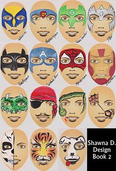 board from Shawna Del Real Simple face painting @Michelle Flynn Flynn Flynn Flynn Hamel