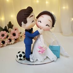 Wedding Cake Toppers, Wedding Cakes, Beauty And The Beast Theme, Polymer Clay Cake, Cute Kids Photography, Buddha Painting, Fondant Cake Toppers, Wedding Glasses, Quilling Designs