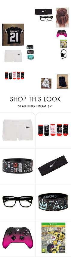 """""""JUST CHILLIAXING"""" by killjoy2004 ❤ liked on Polyvore featuring NIKE, ZeroUV and Microsoft"""