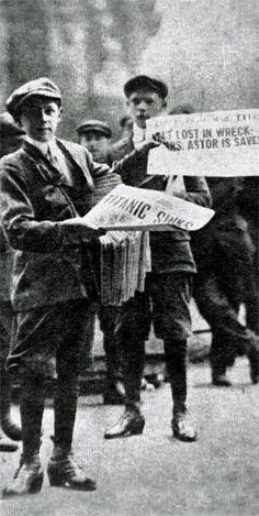Titanic newspaper boys.