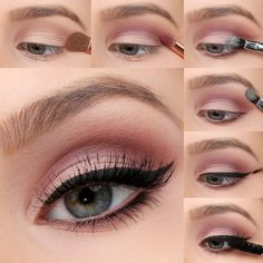 We're taking the must-have shades of the season, and transforming them into bold eye looks with our Mauve Matte Eye Tutorial! Colorful Eye Makeup This season trend, dark tinted headlights, replaced with brightly colored. Mauve Makeup, Matte Eye Makeup, Eye Makeup Steps, Smokey Eye Makeup, Makeup For Brown Eyes, Daytime Eye Makeup, Soft Eye Makeup, Makeup Inspo, Makeup Tips