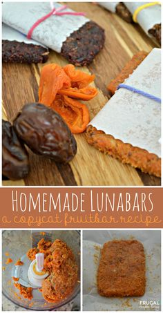 Homemade Copycat Larabars Recipe - a copycat fruit bar recipe on Frugal Coupon Living.