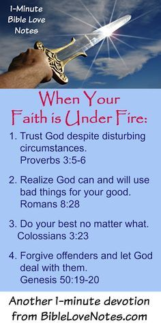 When our faith is under fire - when going through trials, dealing with ungodly people or circumstances, under attack - These 4 things will keep us on the Solid Rock. For details, read this devotion. Prayer Scriptures, Prayer Quotes, Scripture Verses, Bible Verses Quotes, Faith Quotes, Motivational Scriptures, Quotes Quotes, Padre Celestial, Bible Love