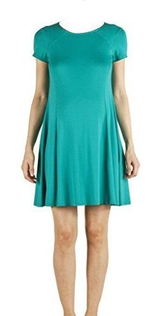 3278c3d52c6b6 Attesa Maternity Dress Turquoise Made in Italy By Vittorio Martinelli M **  Check out this