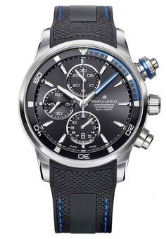 Maurice Lacroix Watch Pontos S #basel-15 #bezel-fixed #bracelet-strap-rubber…