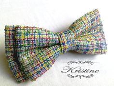 Mens bow tie colorful cotton handmade bow tie  by KristineBridal, $35.70