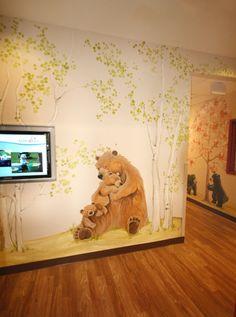 entrance murals at a Colorado preschool.