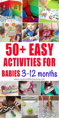 50  Activities for Babies 3-12 Months - HAPPY TODDLER PLAYTIME