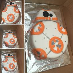 My BB 8 droid cake for my sons birthday. - Star Wars Cake - Ideas of Star Wars Cake - My BB 8 droid cake for my sons birthday.