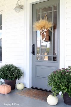 Prairie Estate Robin's Egg Door & Crafted Basket