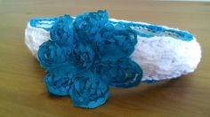 organic little girl headband, blue flower headband, natural baby accessories, shabby chic headband, organic shower gifts, purple head wrap - pinned by pin4etsy.com