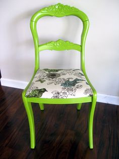 My grandma has this chair! She would probably be livid if I asked her for it and painted it!