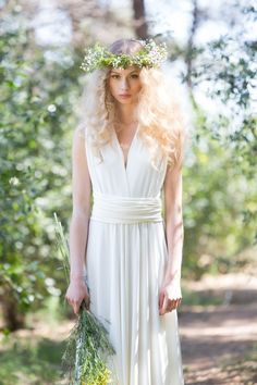 Kleider - Weißen Kleid / Unendlich Weiß Kleid / Hochzeits... - ein Designerstück von Mimetik_Bcn bei DaWanda