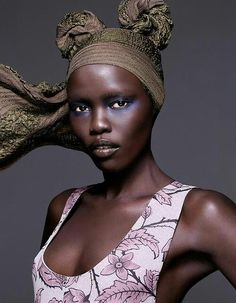 Make-up, Style and the Modern Mix: Grace Bol by Karina Twiss for Madame Figaro November 2014.   Photos: Karina Twiss