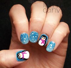 The Little Canvas: The First Snowy Manicure of the Season - Penguin Nails!